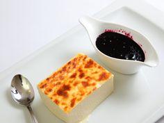 Restaurante Capazorras:  Tarta de queso con arándanos