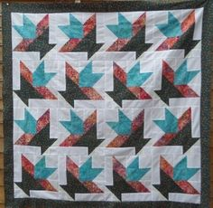 The Texas cactus quilt pattern is an easy and colourful quilt - simple to make. Free easy quilt pattern for lap quilt or throw.