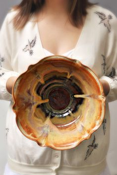 Ceramic Flower Bowl from Lee Wolfe Pottery