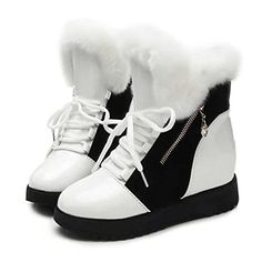 eshion Womens Winter Snow Fur Lining Buckles Side Zipper Outdoor Boots >>> This is an Amazon Affiliate link. See this great product.
