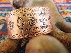 Copper Bracelet Women Cuff Bracelet Copper Jewelry Bell