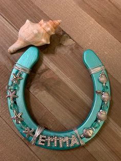 Excited to share the latest addition to my shop: Personalized horseshoe Horseshoe Projects, Horseshoe Crafts, Horseshoe Art, Blacksmith Projects, Welding Projects, Craft Projects, Welding Art, Beaded Horseshoe, Lucky Horseshoe