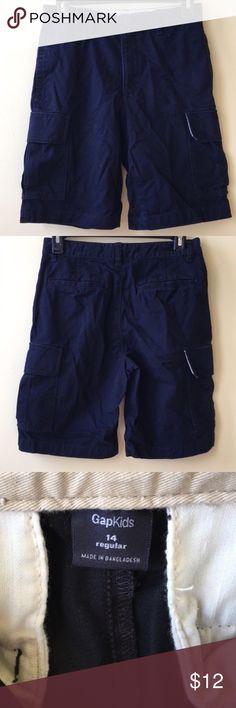 NWT Boy/'s Gymboree Uniform navy blue adjustable shorts w// belt ~ 4 5 6 7 8 10
