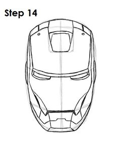 How to Draw Iron Man Step 14