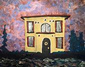 House Painting -Venetian Dream House - Beautiful, Romantic, Colorful, Architecture Fantasy Art #bestofEtsy #etsy #handmade #fineart #art #painting #original