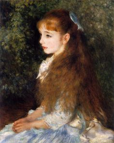 ♔ 'Portrait of Mademoiselle Irene Cahen d`Anvers' (Mlle Irene Cahen d'Anvers) ~ by Pierre-Auguste Renoir Pierre Auguste Renoir, Claude Monet, L'art Du Portrait, Portraits, August Renoir, French Impressionist Painters, Renoir Paintings, Most Famous Artists, Renaissance Paintings