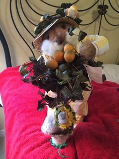 """Apple Whimseys Easter Bunny 18"""" Limoncello Signed 2002 7/100"""