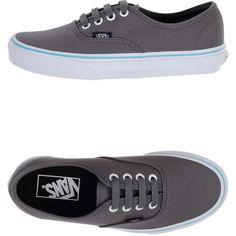 Vans Sneakers ($102) ❤ liked on Polyvore featuring shoes, sneakers, vans, grey, grey shoes, gray flat shoes, round cap, vans sneakers and vans trainers