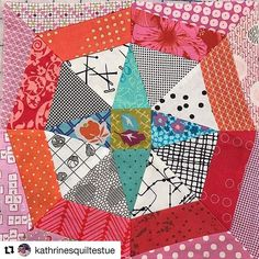 And this is Delilah @kathrinesquiltestue style. I love seeing these all coming together #delilahquilt #delilahbom #jenkingwelldesigns