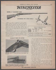1956 WINCHESTER Model 21 Magnum Gun Shotgun AD : Other Collectibles at GunBroker.com
