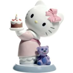 Nao by Lladro Hello Kitty Happy Birthday! Collectible Figurine ($135) ❤ liked on Polyvore featuring home, home decor, birthday, hello kitty, no color, nao figurines, cat home decor, hello kitty figurines, hello kitty home decor and hello kitty home accessories