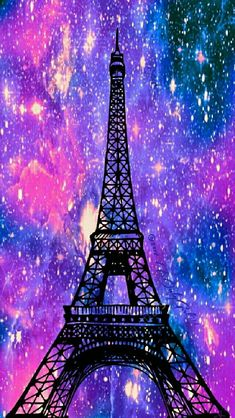 Eiffel Tower galaxy iPhone/Android wallpaper I created for the app CocoPPa! Cute Wallpaper Backgrounds, Trendy Wallpaper, Pretty Wallpapers, Wallpaper Iphone Cute, Cool Wallpaper, Screen Wallpaper, Iphone Wallpapers, Musik Wallpaper, Paris Wallpaper