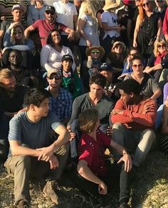 they're all looking at dylan...