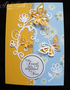 Butterflies  Blooms dies.(Blog tonic: simplicity geared border punches)
