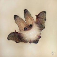 Fledermaus Mehr illustration bat touch the stars without fear Art And Illustration, Illustrations, Halloween Illustration, Halloween Drawings, Cute Animal Drawings, Cute Drawings, Art Mignon, Cute Bat, Cute Baby Animals
