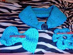 Baby Blue Knitted Button Back Ear Warmer by CuteBrokeCollegeGirl, $18.00