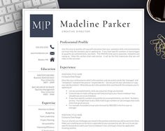 professional resume template for word pages cv template