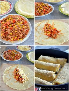 Beautiful Crochet bells, set of 3 x and 1 x Quesadilla, Crepes, Finger Foods, Meal Prep, Catering, Tacos, Food And Drink, Pork, Cooking Recipes