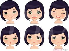 Vector facial expressions Melisendevector.com...reminds me of me.  LOL