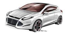 Ford Focus Car Design Sketch, Car Sketch, Ford Focus Hatchback, Automotive Design, Auto Design, Cool Sketches, Photoshop, Concept Cars, Cool Cars