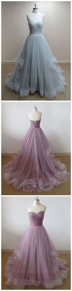 Custom Made Charming Tulle Prom Dress, Sweetheart Prom Dress, Simple Ball Gown,Evening Dress,028