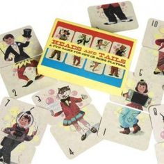 Vintage Heads and Tails Card Game - Party Bags & Toy Fillers - Party