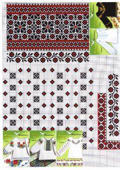 Gallery.ru / Фото #129 - схеми вишиванок - vira-pagut Folk Embroidery, Cross Stitch Embroidery, Embroidery Patterns, Machine Embroidery, Cross Stitch Borders, Cross Stitching, Cross Stitch Patterns, Beading Patterns, Ukraine