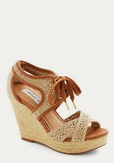 Bali Breeze Wedge in Sand | Naughty Gal Shoes