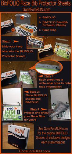 Race Bib Protector Sheets for GoneForaRUN.com BibFOLIO