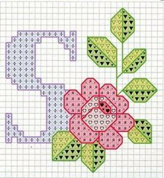 Rose alphabet S Cross Stitch Letters, Cross Stitch Cards, Cross Stitch Rose, Cross Stitch Flowers, Cross Stitching, Embroidery Alphabet, Embroidery Art, Cross Stitch Embroidery, Embroidery Patterns