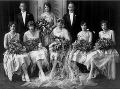 1920's The style then was such overpowering bouquets