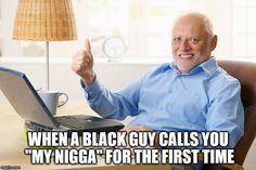 How to make a white guy feel awkward.
