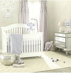 Lambs and Ivy French Lavender Baby Bedding Collection - Best Baby Girl Nursery ideas Baby Girl Nursey, Baby Girl Nursery Themes, Nursery Ideas, French Lavender, Baby Bedding, Lambs, Bedding Collections, Soft Colors, How To Fall Asleep