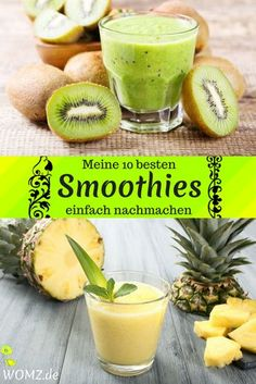 are my 10 best smoothie recipes. Whether fruit or vegetables or a . -Here are my 10 best smoothie recipes. Whether fruit or vegetables or a . Smoothie Fruit, Smoothie Detox, Good Smoothies, Strawberry Smoothie, Healthy Juice Recipes, Best Smoothie Recipes, Juicer Recipes, Healthy Juices, Detox Breakfast