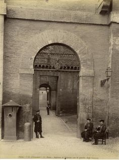 Fratelli D'Alessandri - n. 060 - Roma - Ingresso al Vaticano con la guardia degli Svizzeri