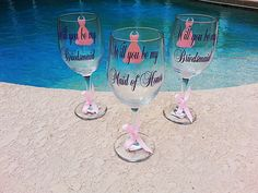Will you be my Maid of Honor  Bridesmaid  Matron by Customforless, $9.00