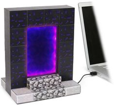 If you're a Minecraft addict, chances are the game invades your thoughts even when you're not playing. Get the new Minecraft USB Desktop Nether Portal, and now instead of just thinking about Minecraft you can play with your very own operational Nether Portal. You'll think you&#039