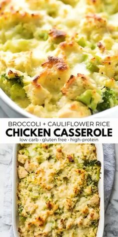 Comida Diy, Comidas Fitness, Plats Healthy, Healthy Casserole Recipes, Healthy Chicken Casserole, Low Carb Breakfast Casserole, Low Calorie Casserole, Gluten Free Casserole, Healthy Chicken Enchiladas