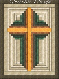 (7) Name: 'Quilting : Log Cabin Cross-Paper Pieced - 16'x21'
