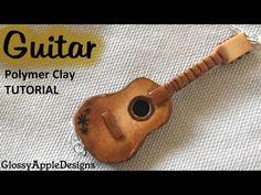 Modelar una guitarra clásica con porcelana fría