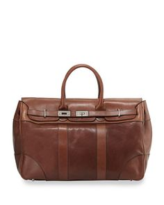 N2XS6 Brunello Cucinelli Calf Leather Country Bag, Copper