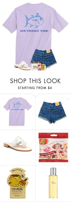 """Finally finished studying for a test tomorrow"" by preppyandsouthern17 ❤ liked on Polyvore featuring Jack Rogers, Jelly Belly and Hermès"
