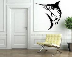 Aiwall MARLIN SALTWATER FISH FISHING Wall Art Sticker Decoration