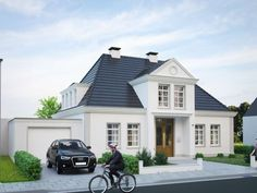 Detached house Bremen - Bramlage Architekten - Villa bauen - Home Sweet Home Craftsman Bungalow House Plans, Bungalow Exterior, Modern Exterior, Craftsman Bungalows, Style At Home, Modern Mansion, Exterior Makeover, Mansions Homes, House Windows
