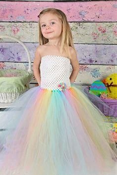 Newborn - Size 9 Pastel Rainbow Tutu Dress