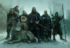 Stark Heroes: Awesome ASOIAF Illustration by Stefan Kopinski Note: This artwork is part of A Song of Ice & Fire: Tabletop Miniatures Game Medieval Fantasy, Dark Fantasy, Game Of Thrones Art, Fire Art, Fantasy Inspiration, Fantasy Artwork, Fantasy World, Fantasy Characters, Dungeons And Dragons