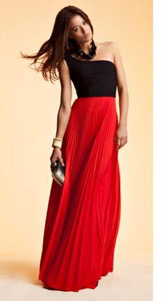 one shoulder maxi dress <3