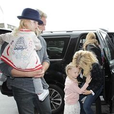 Jessica Simpson arrives at LAX with hubby Eric Johnson and their kids