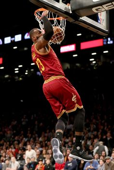 LeBron James Photos Photos - LeBron James #23 of the Cleveland Cavaliers dunks in the second half against the Brooklyn Nets at the Barclays Center on January 6, 2017 in the Brooklyn borough of New York City. NOTE TO USER: User expressly acknowledges and agrees that, by downloading and or using this Photograph, user is consenting to the terms and conditions of the Getty Images License Agreement. - Cleveland Cavaliers v Brooklyn Nets