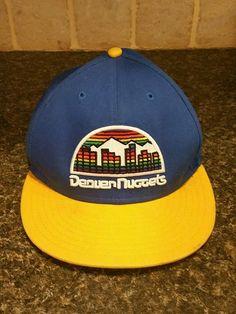 Rare Denver Nuggets HWC Base Snapback Retro Logo NBA New Era  NewEra   DenverNuggets 76242021fc5a